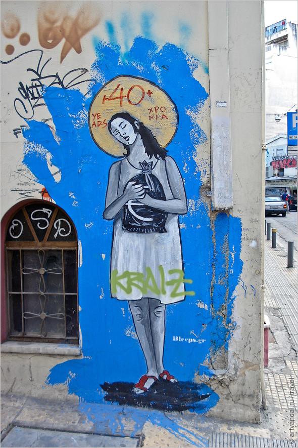 Стрит-арт и граффити Афин, Греция. Часть 2. Изображение № 10.