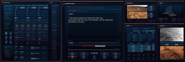 Студия рассказала обинтерфейсах в«Марсианине». Изображение № 11.