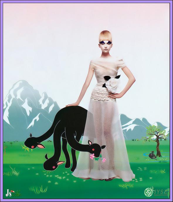 Архивная съёмка: Джемма Уорд для Harper's Bazaar, 2004. Изображение № 8.