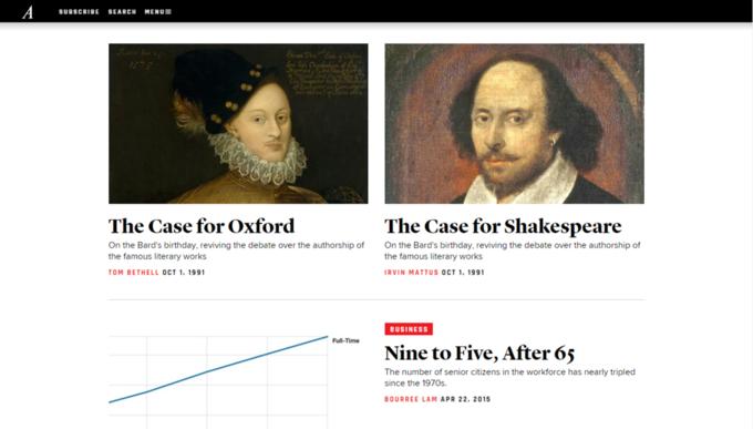Сайт издания The Atlantic полностью обновили. Изображение № 4.