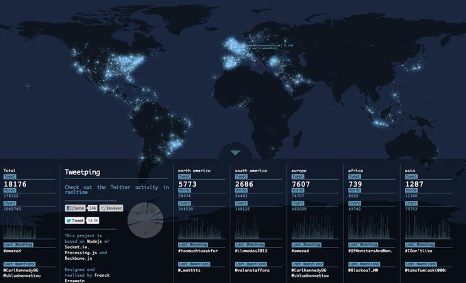 Дизайнер создал интерактивную карту Twitter-активности. Изображение № 2.