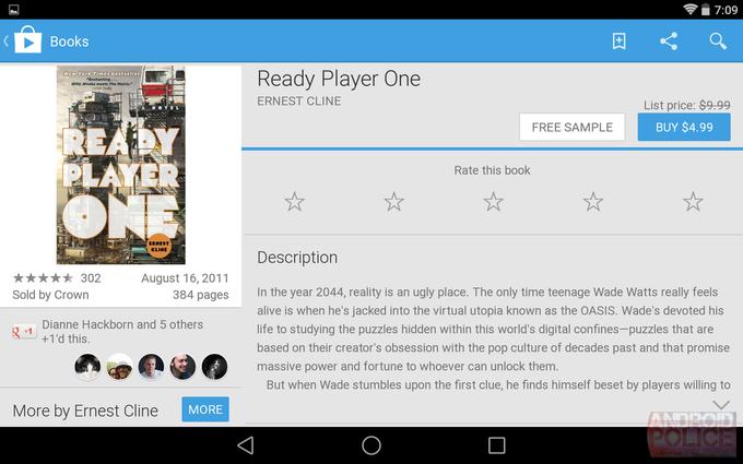 Текущий интерфейс Google Play для планшетов. Изображение № 9.