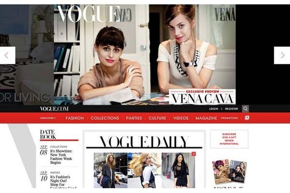 У Dazed Digital и Vogue.com поменялся дизайн. Изображение № 3.