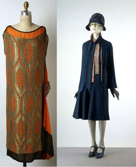 Вечернее платье, 1920-1925, пальто, 1928, оба - Liberty of London.. Изображение № 5.