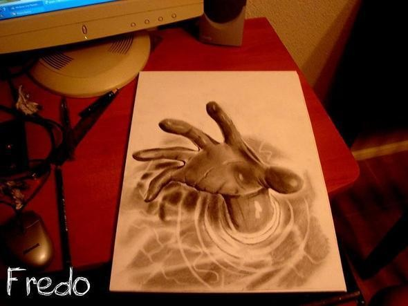 """Изображение 13. Реалистичные 3D рисунки """"в карандаше"""".. Изображение № 13."""