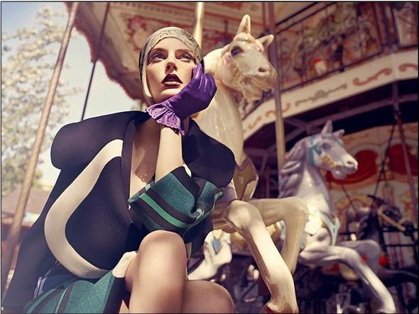 Съёмка: Аугусте Абелюнайте для Vogue. Изображение № 9.