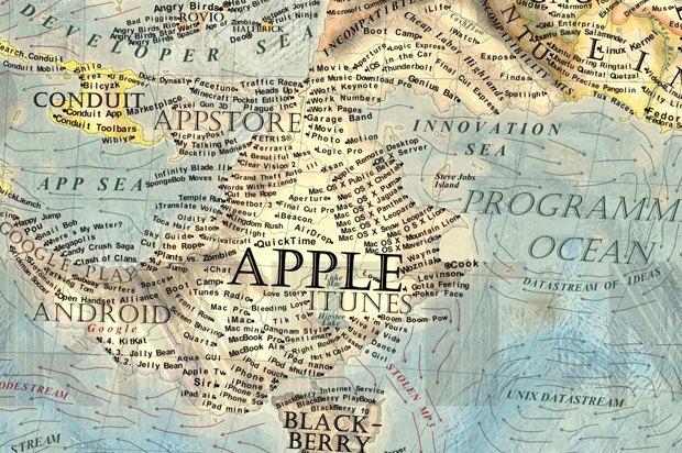 Дизайнер создал детализированную карту интернета. Изображение № 3.