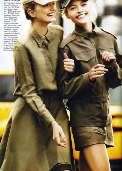 Изображение 1. Фотосессия в Vogue в стиле милитари.. Изображение № 1.