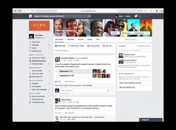 Facebook запустит версию соцсети для работы до конца года. Изображение № 1.