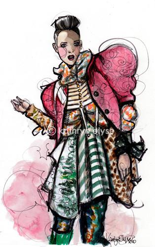 Kathryn Elyse. Fashion Illustrations. Изображение № 17.