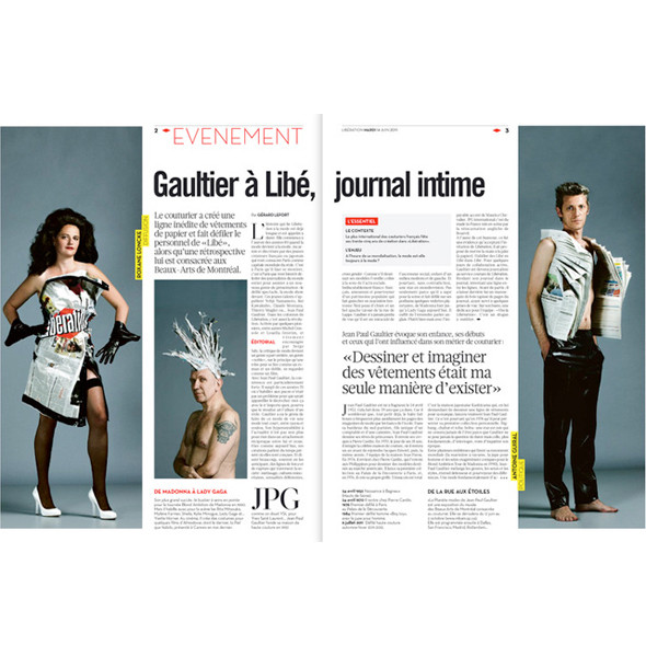 Изображение 3. Жан-Поль Готье стал приглашённым редактором Liberation.. Изображение № 3.