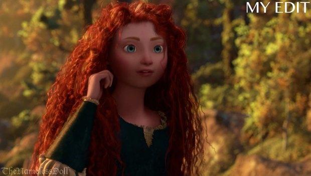 Мерида из «Храброй сердцем» в версии автора. Изображение № 6.