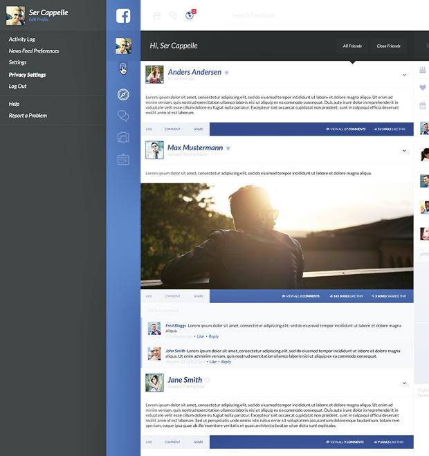 Редизайн дня: полностью новая веб-версия Facebook. Изображение № 6.