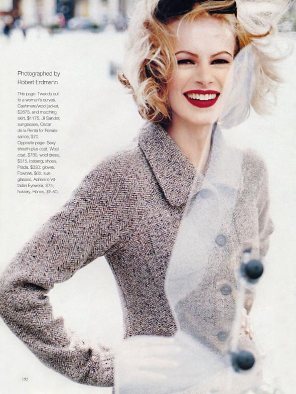 Архивная съёмка: Эмма Балфор для Marie Claire, 1995. Изображение № 2.