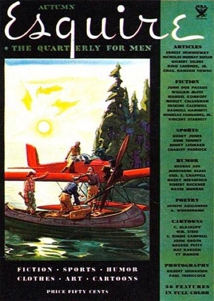 Обложка первого номера  «Esquire», 1933 г.. Изображение № 21.