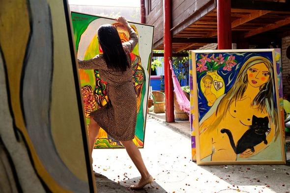 Дом и студия художницы Isabelle Tuchband в Сан Пауло.. Изображение № 6.