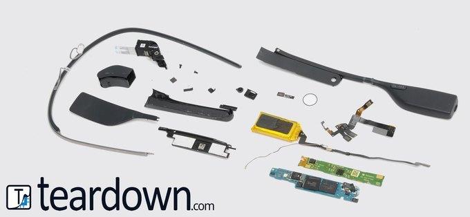 Исследователи назвали себестоимость аппаратной части Google Glass . Изображение № 1.