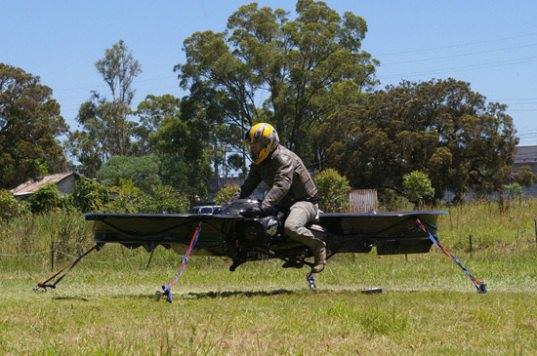 Построен прототип летающего мотоцикла. Изображение № 1.
