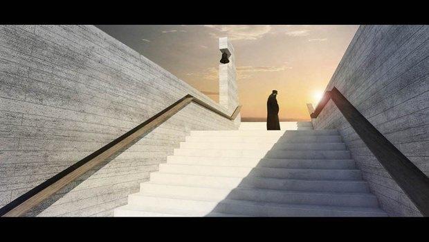 Архитектура дня: концепт церкви-креста на отвесной скале. Изображение № 8.
