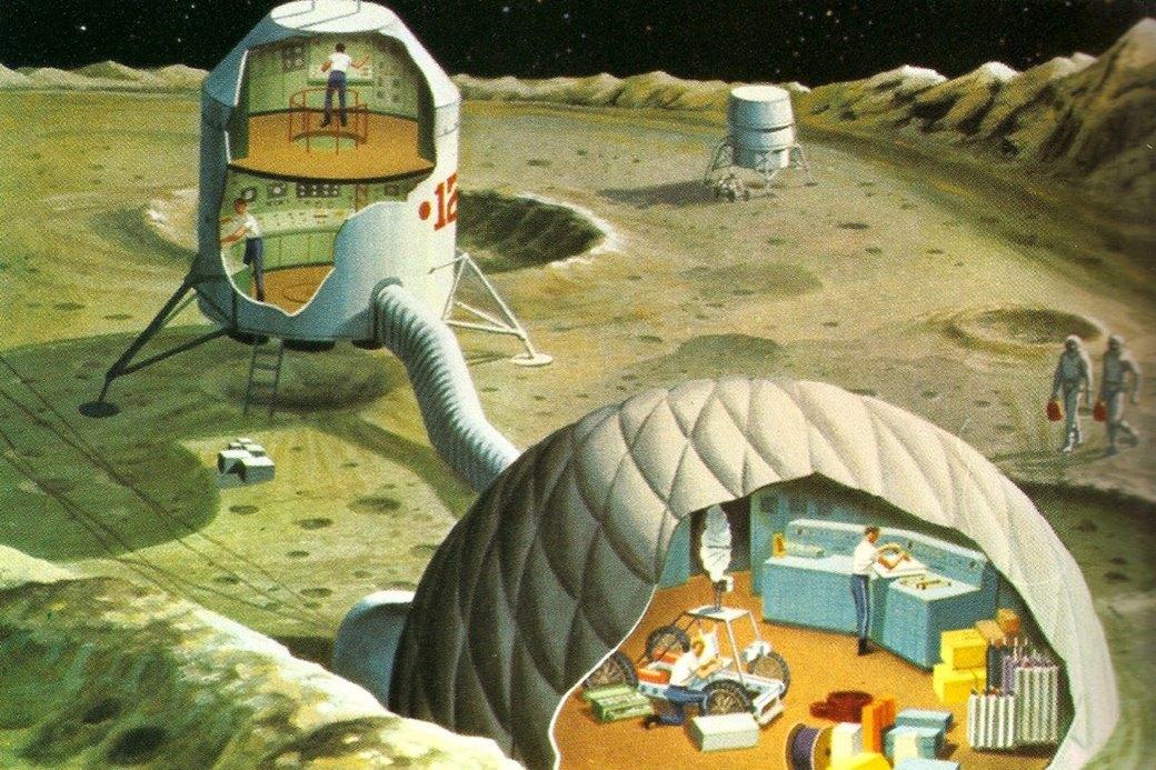 Как представляли колонию на Луне в 1969-м. Изображение № 2.
