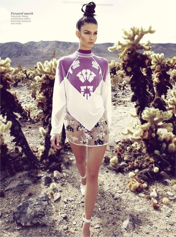 Съёмка: Марло Хорст и Кендра Спирс для австралийского Vogue. Изображение № 21.