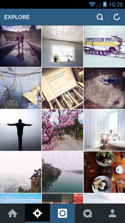 Instagram для Android стал «плоским». Изображение № 4.