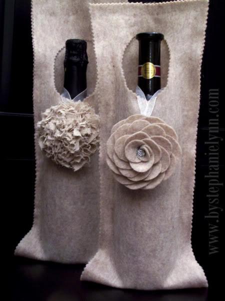 Новогодние украшения из винных бутылок. Изображение № 10.