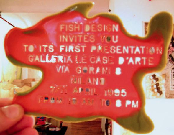 Красная рыбка итальянского дизайна Fish Design. Изображение № 1.