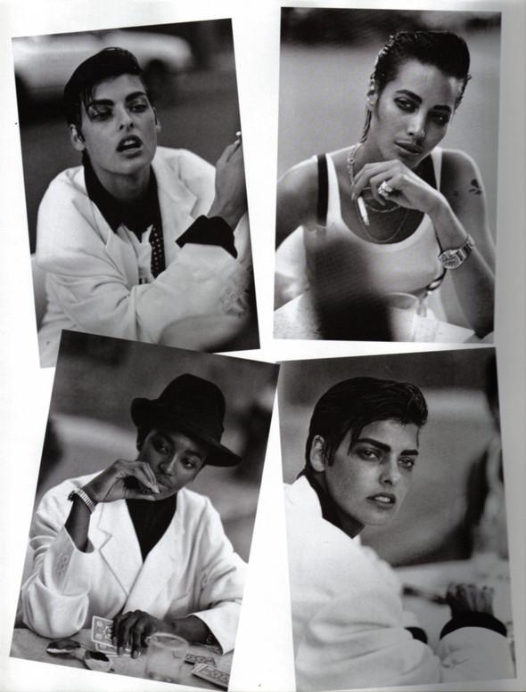 Архивная съёмка: Линда Евангелиста, Наоми Кемпбелл и Кристи Терлингтон для Vogue. Изображение № 6.