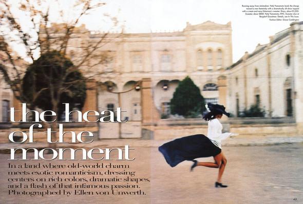 Архивная съёмка: Наоми Кэмпбелл и Эллен фон Унверт для Vogue, 1998. Изображение № 1.