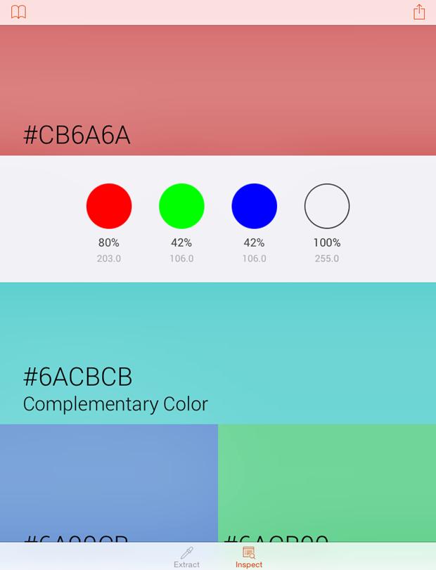 Вышло приложение для захвата и анализа цвета с фотографий. Изображение № 2.