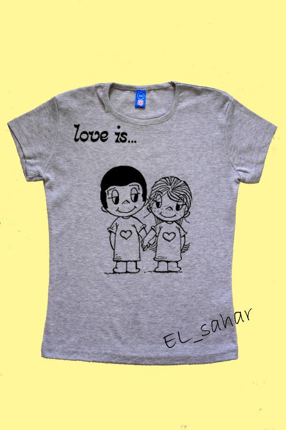 Elsaharova: половинчатые футболки на 14 февраля. Изображение № 19.