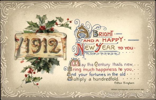 Новогодние открытки 1912 года. Изображение № 11.