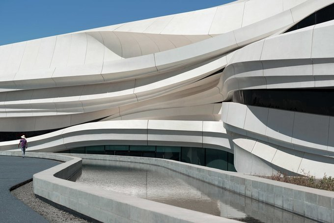 Архитектура дня: музей в Китае сбелым «слоёным» фасадом. Изображение № 6.