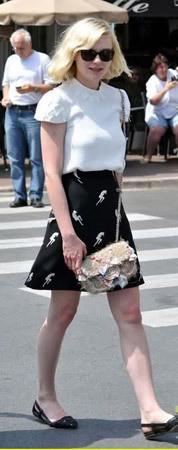 Актриса Кирстен Данст в юбке Miu Miu. Изображение № 88.