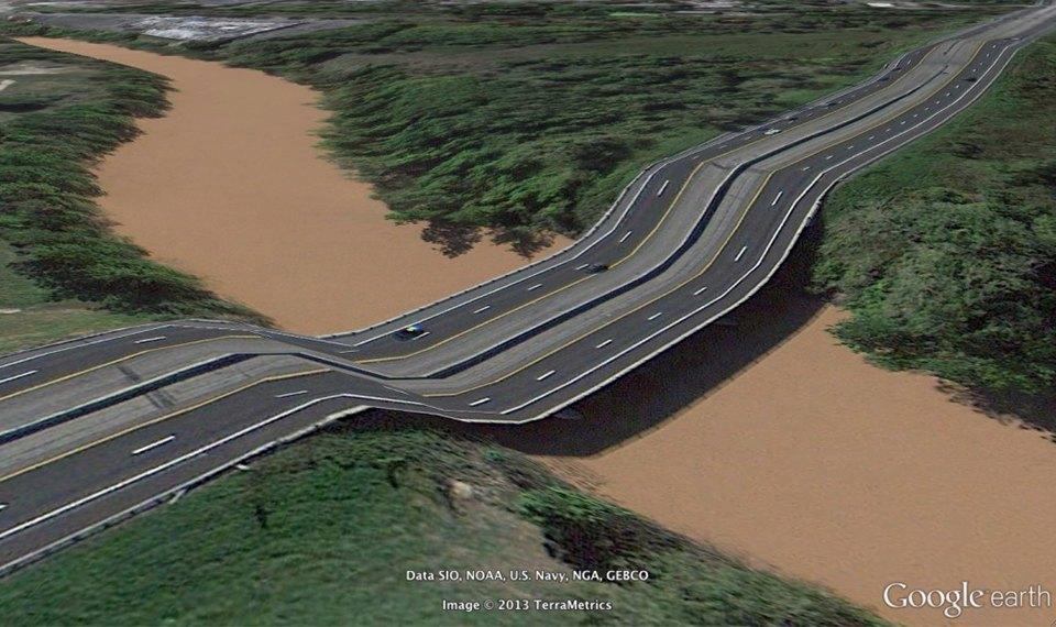 32 фотографии из Google Earth, противоречащие здравому смыслу. Изображение №12.