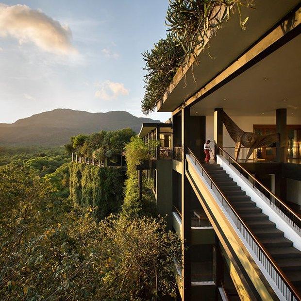 Фотограф: Tom Roe / Здание: Kandalama Hotel (Дамбулла, Шри-Ланка) / Бюро:  Geoffrey Bawa / Категория: «Чувство места». Изображение № 3.