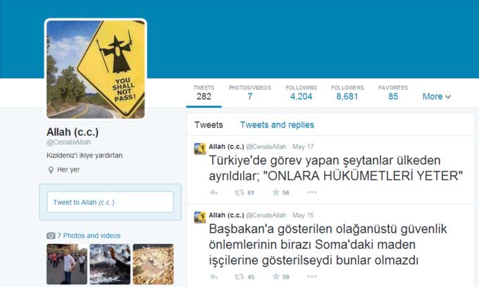 Пользователя Twitter посадили в тюрьму за никнейм «Allah (c.c.)». Изображение № 1.