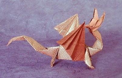 Новогодние драконы в технике оригами. Изображение № 5.