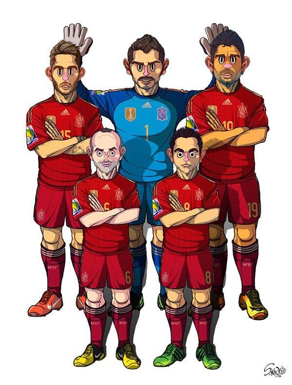 Иллюстратор нарисовал все 32 команды ЧM по футболу . Изображение № 4.