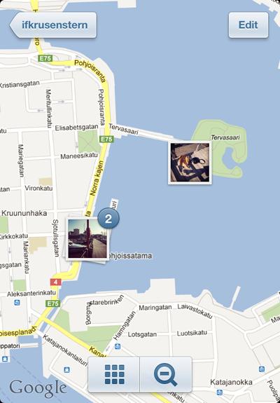 фото карта в инстаграме