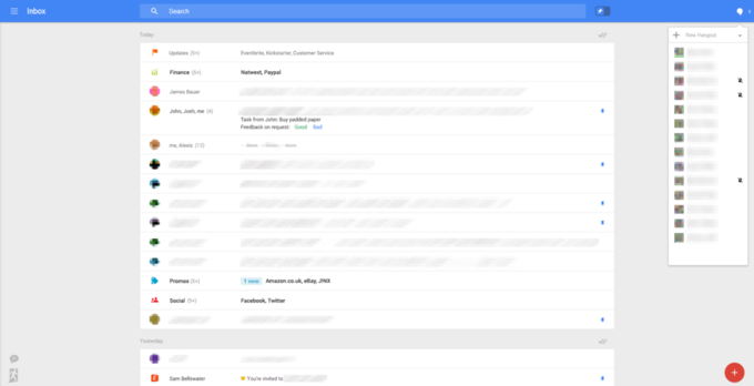 Появились скриншоты экспериментального интерфейса Gmail . Изображение № 1.