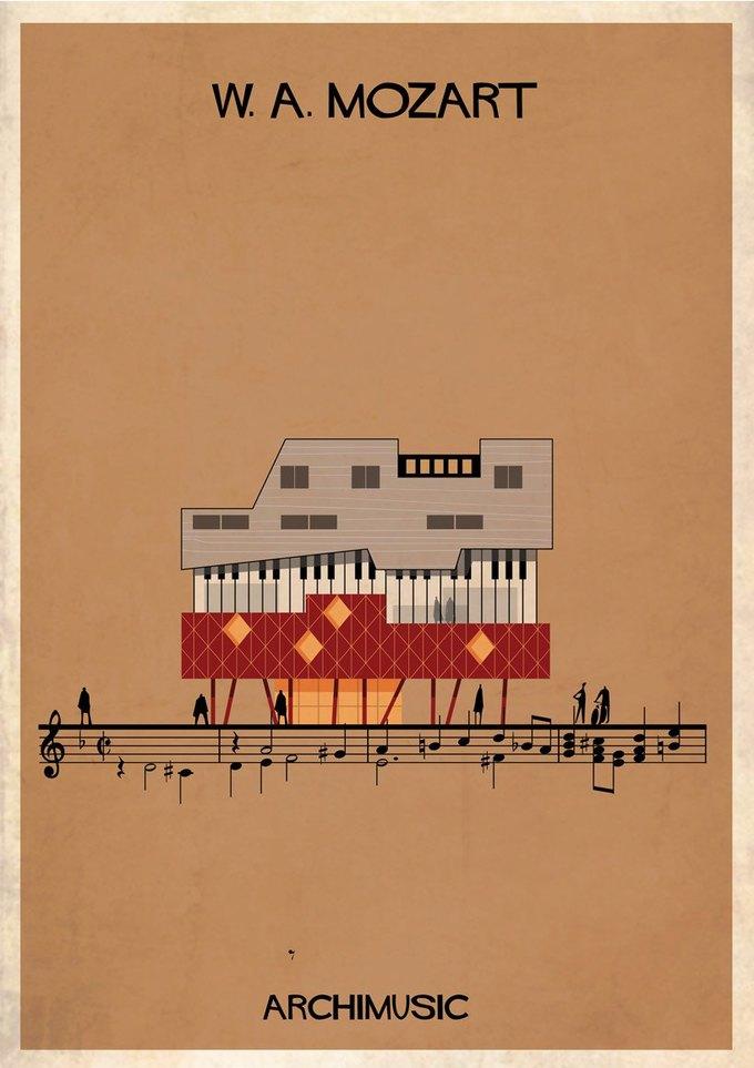 Испанский архитектор превратила песни в здания для новой серии плакатов . Изображение № 5.