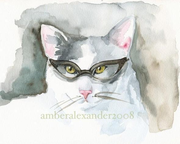 Изображение 21. Amber Alexander - животные, сияющие акварелью.. Изображение № 21.