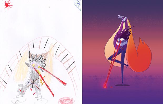 Художники создали монстров наоснове детских рисунков. Изображение № 26.