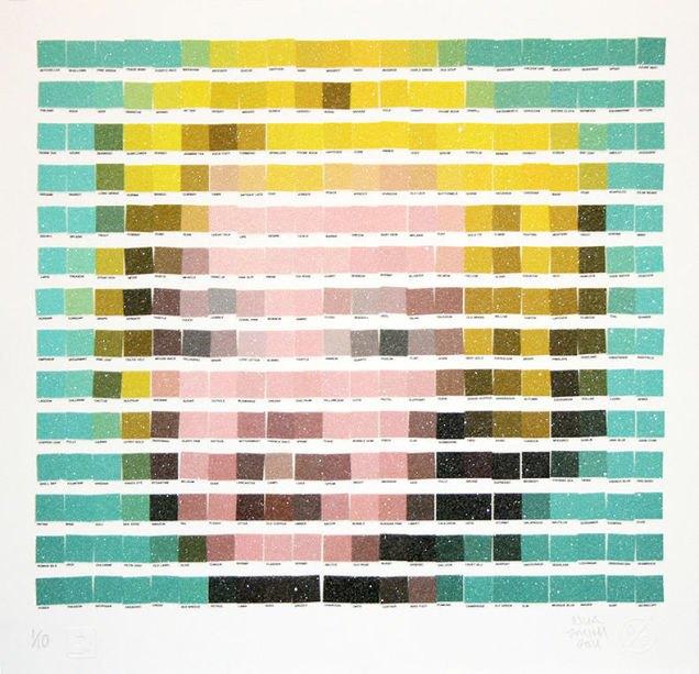 Фото: известные картины в цветах Pantone. Изображение № 2.