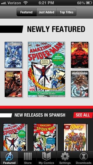 Версия приложения Marvel Global Comics для iPhone. Изображение № 4.