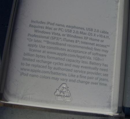 Apple-юмор iPod nano, пара джинсов истрочка текста. Изображение № 1.