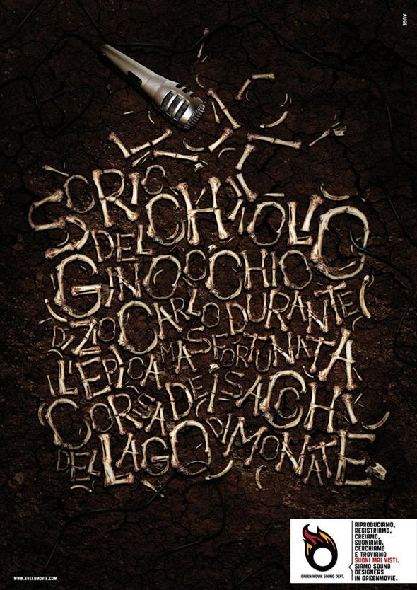 50 примеров использования типографики в рекламе. Изображение №11.