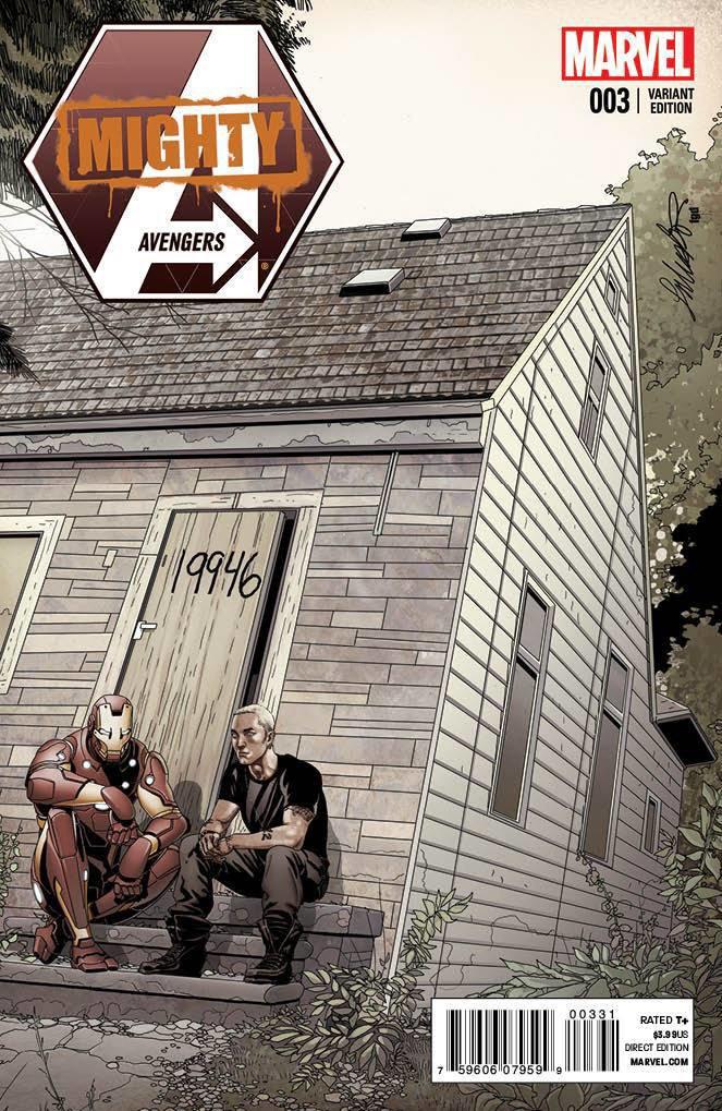 Эминем попал на обложку нового выпуска комикса про Мстителей. Изображение № 1.